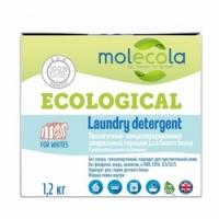 Molecola - Стиральный порошок для белого белья с растительными энзимами экологичный 12 кг.