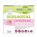 Фото Molecola - Стиральный порошок для цветного белья с растительными энзимами, экологичный,1,2 кг