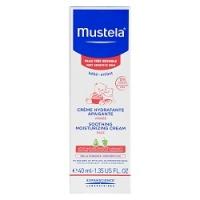Mustela Bebe - Увлажняющий успокаивающий крем для лица, 40 мл