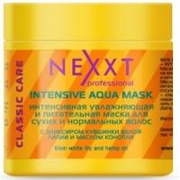 Nexxt Professional Intensive Aqua Mask - Интенсивная увлажняющая и питательная маска для сухих и нормальных волос, 500 мл<br>