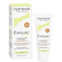 Noreva Exfoliac Matifying suncare fluid - Эмульсия матирующая солнцезащитная SPF50, 40 мл