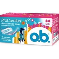 Купить O.b. ProComfort Mini - Тампоны женские гигиенические, 16 шт