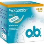 Фото o.b. ProComfort Super - Тампоны женские гигиенические, 8 шт