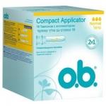 Фото o.b.Compact Applicator Normal - Тампоны женские гигиенические с аппликатором, 16 шт