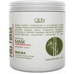 Ollin Professional Full Force Hair&Scalp Mask With Bamboo Extract - Маска для волос и кожи головы с бамбуком, 250 мл.