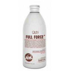 Фото Ollin Professional Full Force Intensive Restoring Shampoo With Coconut Oil - Интенсивный восстанавливающий шампунь с маслом кокоса, 300 мл.