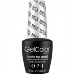 Фото OPI Gelcolor Matte Top Coat - Верхнее покрытие для создания матового эффекта, 15 мл.