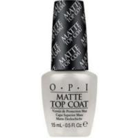 OPI Matte Top-Coat - Покрытие верхнее для создания матового эффекта, 15 мл.