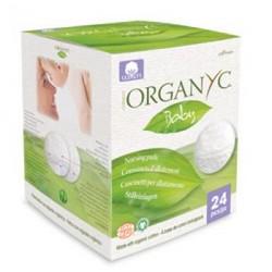 Фото Organyc - Впитывающие вкладыши для груди, 24 шт.