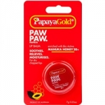 Фото Papaya Gold Paw Paw Papaya Lip Balm - Бальзам для губ с медом манука в баночке, 7 г