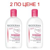 Bioderma Sensibio Micelle solution - Очищающая вода, 2х500 мл