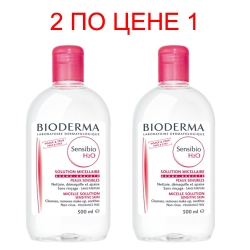 Фото Bioderma Sensibio Micelle solution - Очищающая вода, 2х500 мл