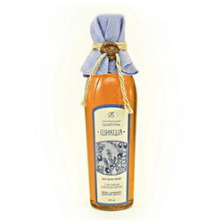 """Фото Kleona Здравница - Шампунь жидкий натуральный на отваре трав """"Шикша"""" для сухих волос 250 мл (цветная ткань)"""