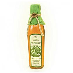 """Kleona Здравница - Шампунь жидкий натуральный на отваре трав """"Крапива"""" для нормальных и жирных волос 250 мл (цветная ткань)"""