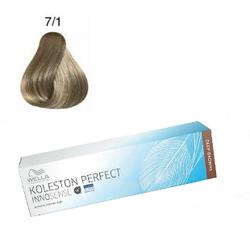Wella Professionals Koleston Perfect Innosense - Стойкая крем-краска 7/1 Блонд пепельный 60 мл
