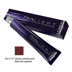 L'Oreal Professionnel Dialight - Краска для волос Диалайт 4.15 Шатен пепельный красное дерево 50 мл