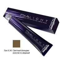 LOreal Professionnel Dialight - Краска для волос Диалайт 8.34 Светлый блондин золотисто-медный 50 мл<br>