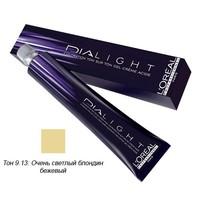 Купить L'Oreal Professionnel Dialight - Краска для волос Диалайт 9.13 Очень светлый блондин бежевый 50 мл