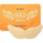 Фото Petitfee Gold Neck Pack - Патч гидрогелевый для области шеи, 10 г