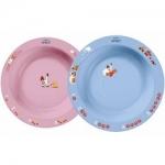 Фото Avent - Глубокая тарелка 230 мл, 6 м+, голубая и розовая