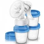 Фото Avent - Молокоотсос ручной с контейнерами для хранения молока