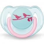 Фото Avent - Пустышка Дизайн 6-18 месяцев, для девочки, 1 шт
