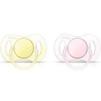 Купить Avent - Пустышка силиконовая мини для девочки, 0-2 месяцев, 2 шт., Avent Philips