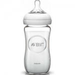 Фото Avent Natural - Бутылочка для кормления стеклянная, 240 мл, 1 шт