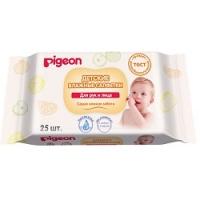Купить Pigeon - Влажные салфетки для рук и лица, 25 шт