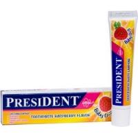 President Baby - Зубная паста-гель, со вкусом малины, для детей от 0 до 3 лет, 30 мл