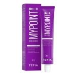 Фото Tefia MyPoint - Гель-краска для волос тон в тон, 7.61 блондин махагоново-пепельный, 60 мл