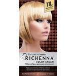Фото Richenna Color Cream 11 L - Крем-краска для волос с хной, яркий светлый блонд