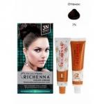 Фото Richenna Color Cream 3 n - Крем-краска для волос с хной, темно-коричневый