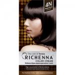 Фото Richenna Color Cream 4 n - Крем-краска для волос с хной, коричневый