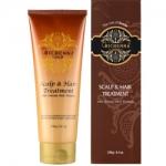 Фото Richenna Gold Scalpe And Hair Treatment - Восстанавливающая маска для волос и кожи головы с хной, 230 мл.