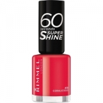 Фото Rimmel 60 Seconds Super Shine Coralicious - Лак для ногтей, тон 430 красно-коралловый, 8 мл