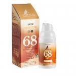 """Фото Sativa - Крем солнцезащитный с тонирующим эффектом SPF 30 """"№68 Sand Beige"""", 30 мл"""