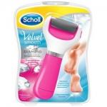 Фото Scholl Velvet Smooth - Электрическая роликовая пилка для удаления огрубевшей кожи стоп, экстра жесткая, розовая