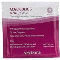 Купить Sesderma Aglicolic S Cleansing Towelettes - Очищающие салфетки для жирной кожи, 14 шт