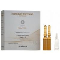 Купить Sesderma Hidroquin Whitening Facial Ampoules - Депигментирующее средство в ампулах, 5 шт по 2 мл
