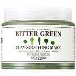 Фото Skinfood Bitter Green Clay Soothing Mask - Маска для лица глиняная успокаивающая, 145 г