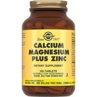 Solgar Calcium Magnesium Plus Zing - Кальций, магний, цинк в таблетках, 100 шт