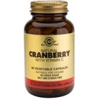Solgar Cranberry - Натуральная клюква с витамином С в капсулах, 60 шт