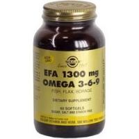 Купить Solgar EFA 1300 mg Omega 3-6-9 - Омега 3-6-9 в капсулах, 60 шт
