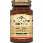 Фото Solgar Folic Acid 400 MCG - Фолиевая кислота в таблетках, 10 шт