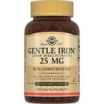 Фото Solgar Gentle Iron 25 mg - Легкодоступное железо Джентл Айрон в капсулах, 90 шт