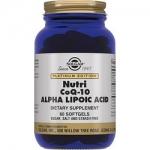 Фото Solgar Hutri CoQ-10 Alpha Lipoic Acid - Нутрикоэнзим Q-10 с альфа-липоевой кислотой в капсулах, 60 шт