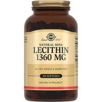 Solgar Lecithin 1360 mg - Натуральный соевый лецитин в капсулах, 100 шт