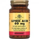 Фото Solgar Lipoc Acid 60 mg - Альфа-липоевая кислота в капсулах, 30 шт