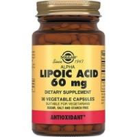 Купить Solgar Lipoc Acid 60 mg - Альфа-липоевая кислота в капсулах, 30 шт